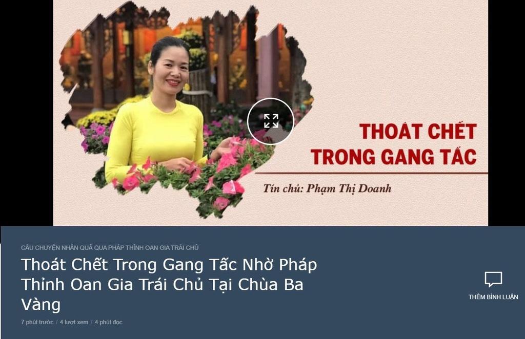 Vu vong bao oan o chua Ba Vang: Ba Pham Thi Yen la ai? hinh anh 4
