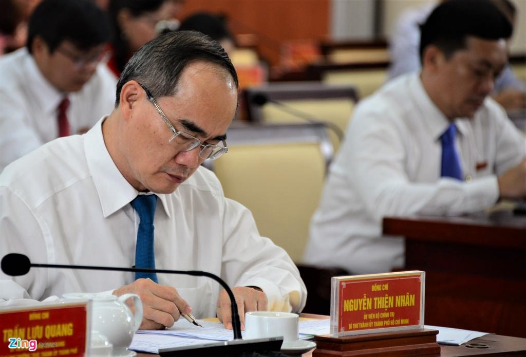 Bí thư Thành ủy TP.HCM Nguyễn Thiện Nhân tại kỳ họp HĐND. Ảnh: Quang Huy.