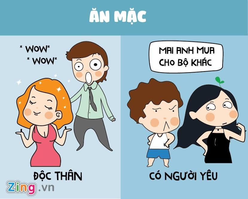 Con gai co nguoi yeu khac voi thoi con doc than nhu the nao? hinh anh 6