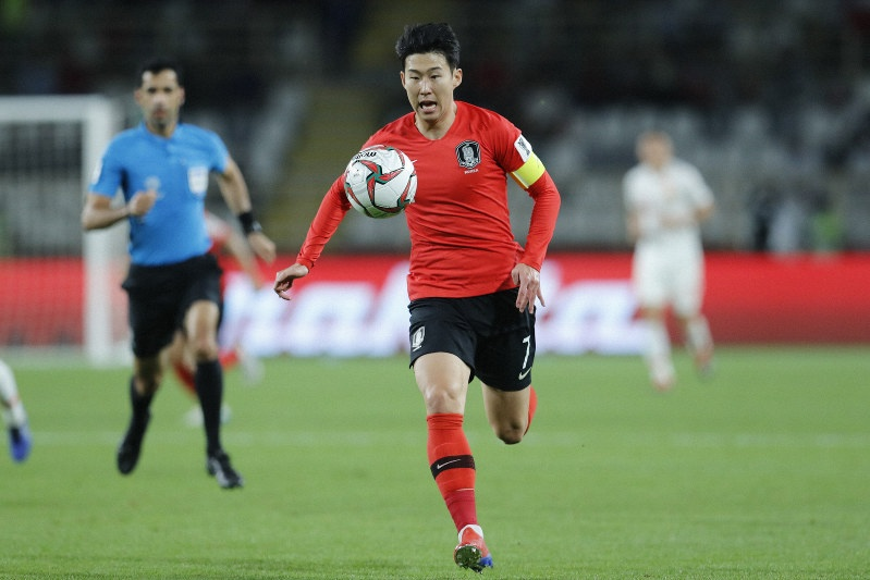 Son Heung-min,  asian cup,  Han Quoc vs Iraq anh 2