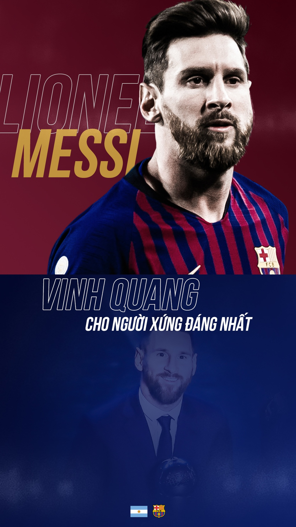 Messi gianh FIFA The Best anh 1