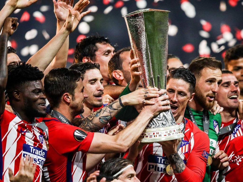 Atletico Madrid,  Diego Simeone,  Fernando Torres,  Griezmann anh 1