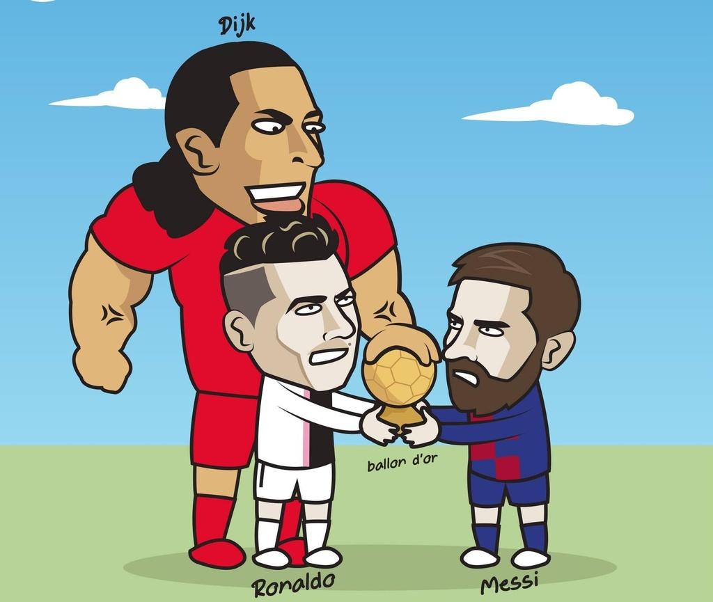 Hi hoa Ronaldo, Messi lep ve truoc Van Dijk o cuoc dua Qua bong vang hinh anh 2