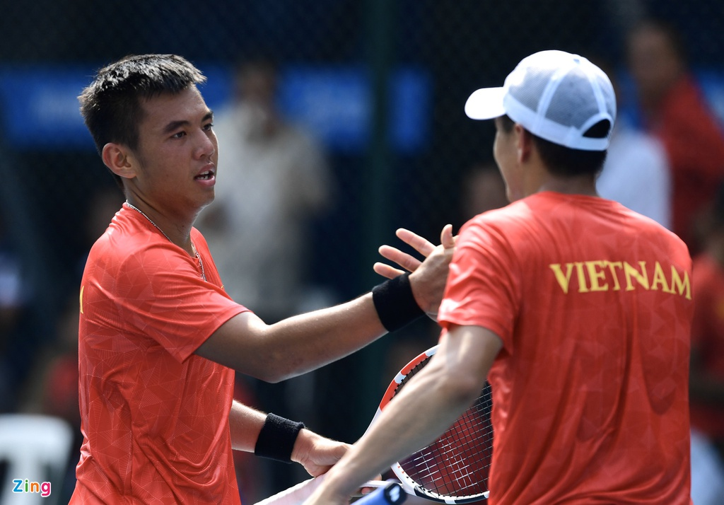 Ly Hoang Nam giup doan Viet Nam co HCV mon tennis tai SEA Games hinh anh 6