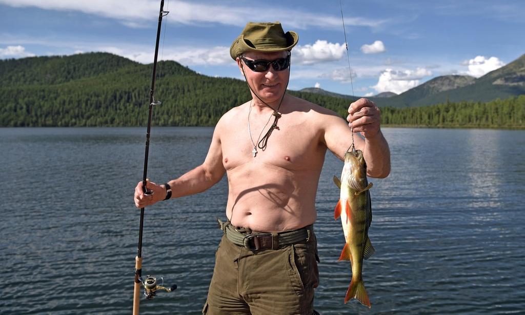 TT Putin nguc tran cau ca trong chuyen nghi mat tai Siberia anh 2