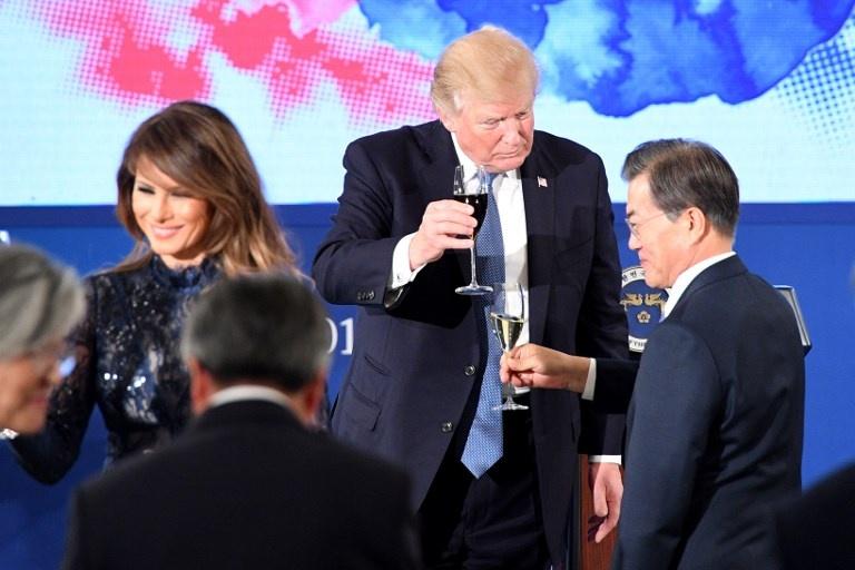 Trump tham Han Quoc anh 3