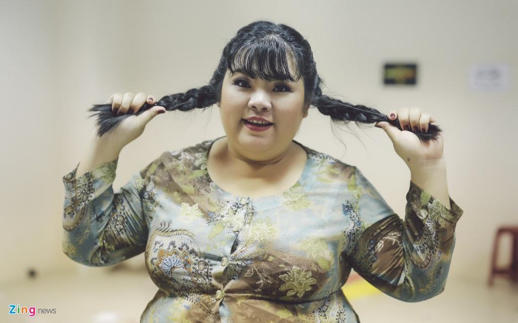 Nu dien vien hai 115 kg cua showbiz Viet ke chuyen tinh yeu hinh anh 1