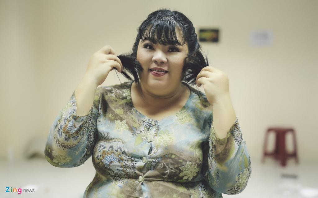 Nu dien vien hai 115 kg cua showbiz Viet ke chuyen tinh yeu hinh anh 2