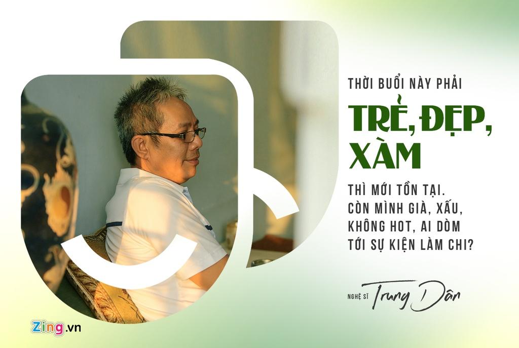 Nghe si Trung Dan - nguoi khien Hoai Linh, Tran Thanh phai ne phuc hinh anh 1