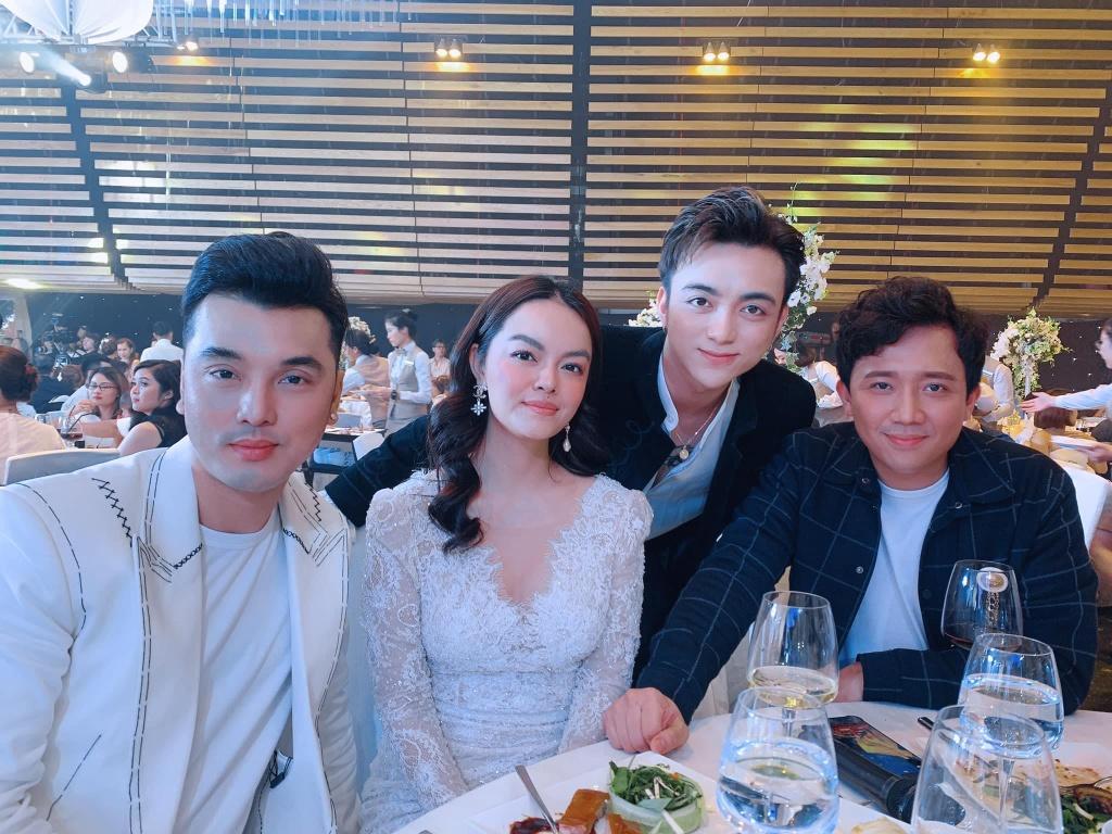 Tran Thanh, Pham Quynh Anh du le cuoi con gai Minh Nhua hinh anh 3