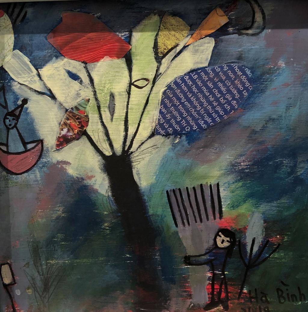 The gioi bay bong trong tranh co be 11 tuoi o Quang Binh hinh anh 4