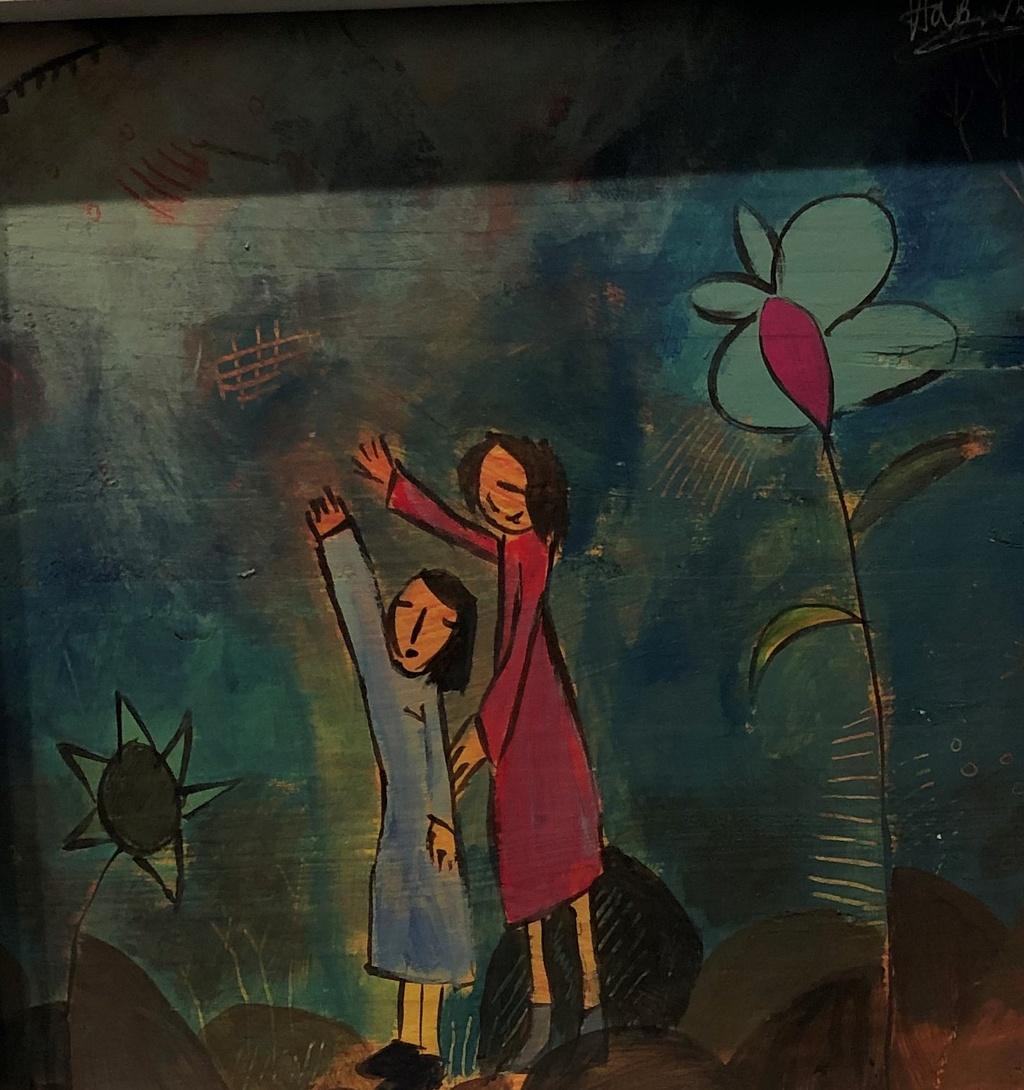 The gioi bay bong trong tranh co be 11 tuoi o Quang Binh hinh anh 7