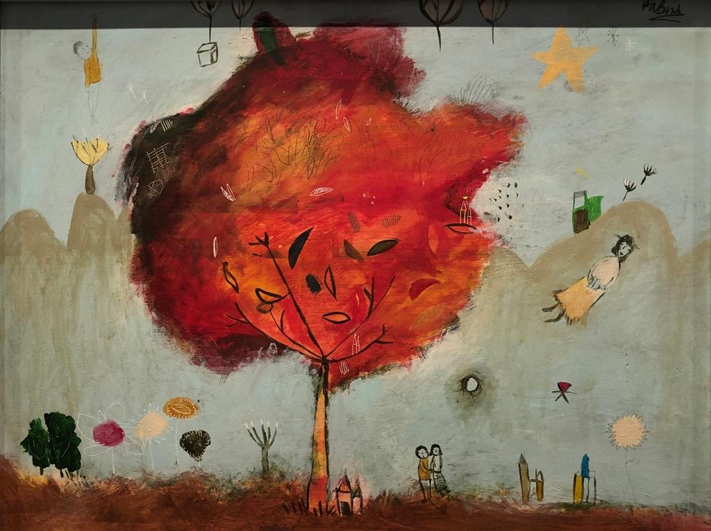 The gioi bay bong trong tranh co be 11 tuoi o Quang Binh hinh anh 9