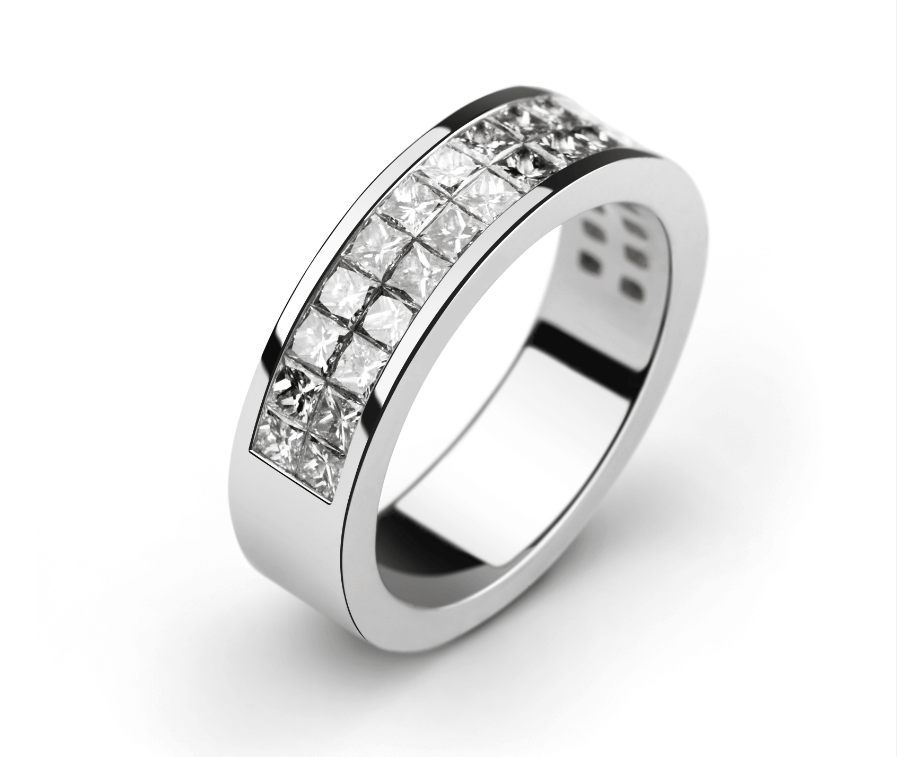 Nhung ky thuat che tac lam nen gia tri trang suc hinh anh 6 White_Gold_Rhodium_Invisible_Setting_Ring.png