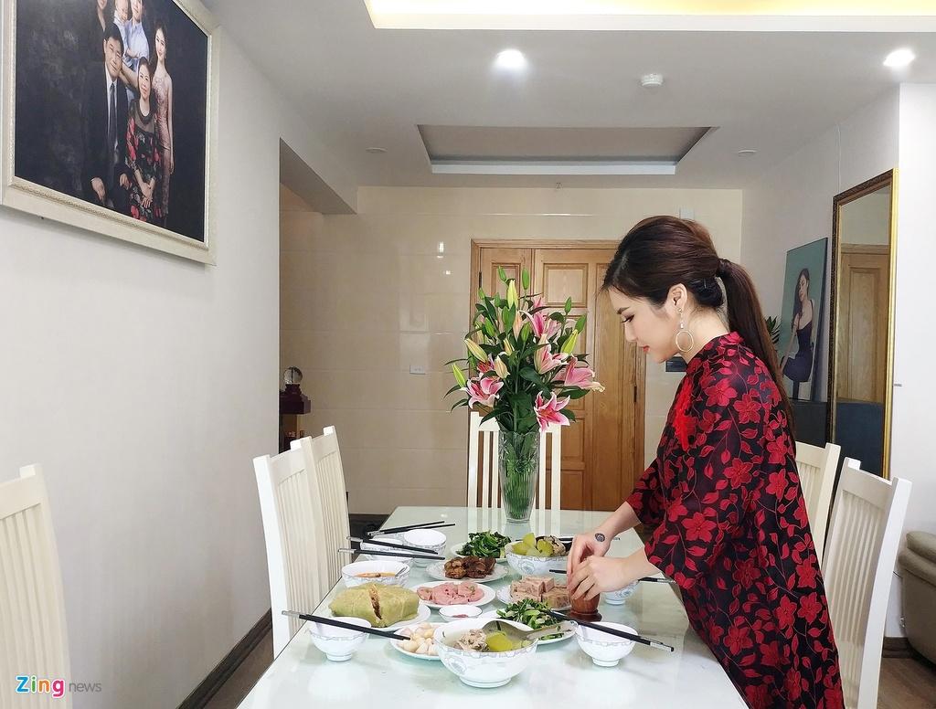 Huong Tram va gia dinh don Tet trong can ho penthouse o Nghe An hinh anh 13
