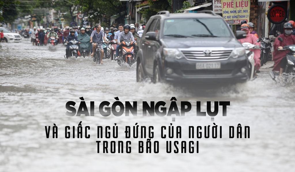 Sài Gòn ngập lụt và giấc ngủ đứng của người dân trong bão số 9 Usagi