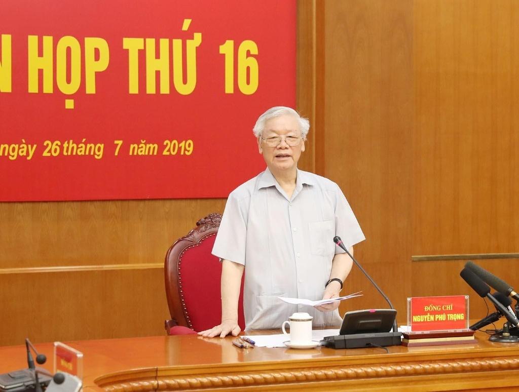 Tong bi thu Nguyen Phu Trong: 'Ai xung dang thi lam, khong thi thoi' hinh anh 1