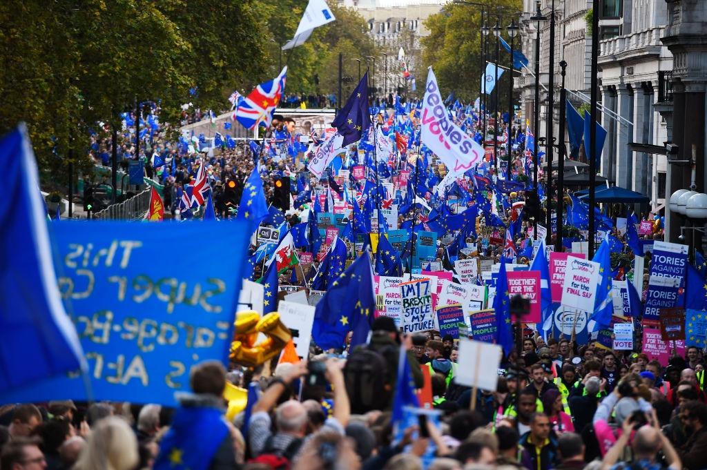 Nguoi Anh mac co EU cho cho roi dan di bieu tinh chong Brexit hinh anh 2