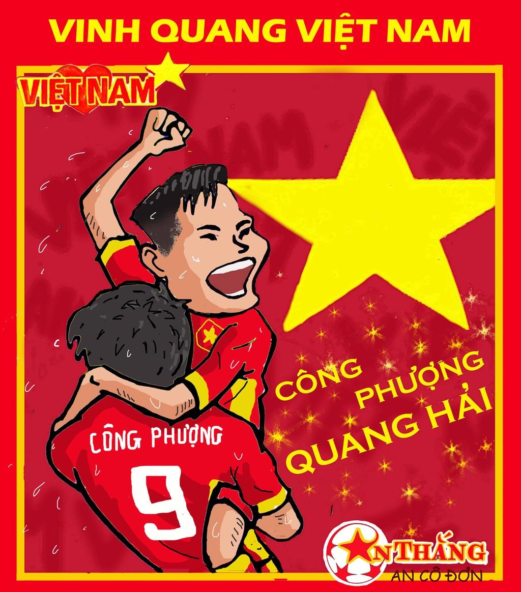 Hi hoa Park Hang-seo cheo con thuyen Olympic Viet Nam ra bien lon hinh anh 2