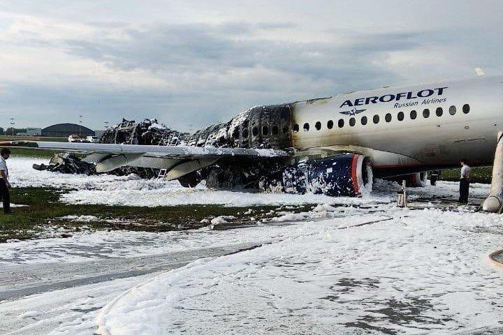 chay may bay Aeroflot SSJ100 anh 1