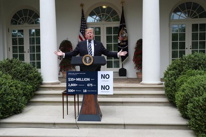 Trump khau chien dang Dan chu anh 1