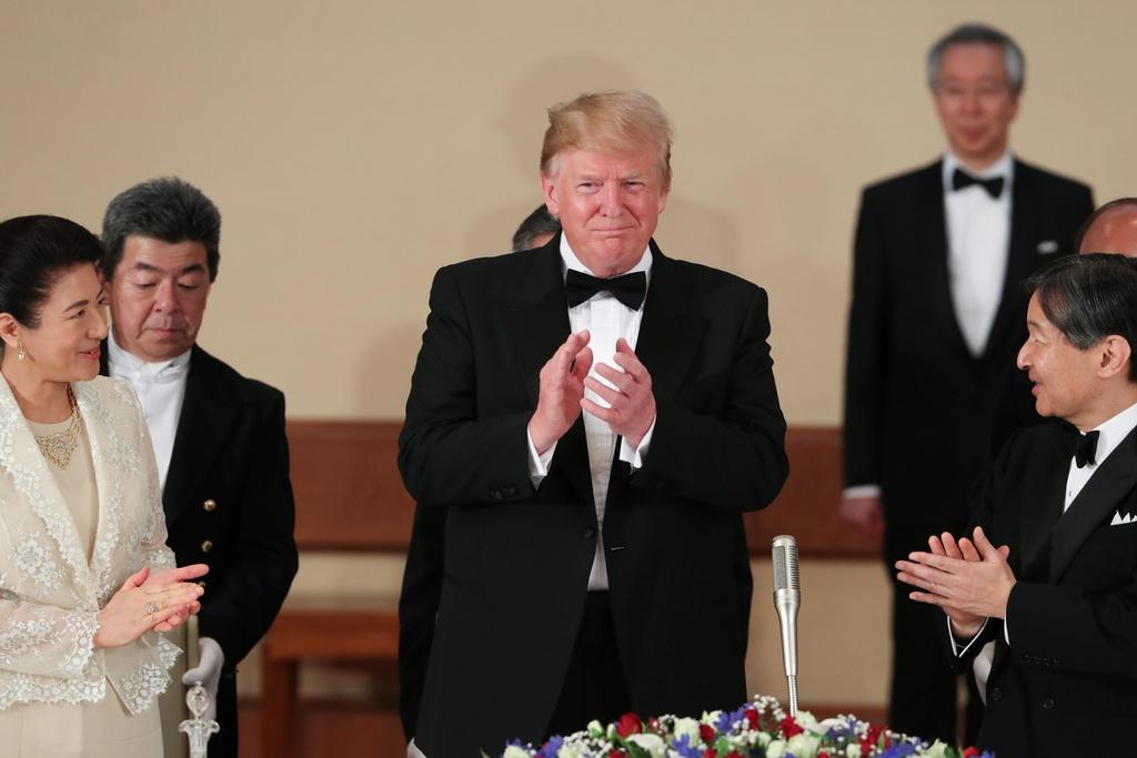 Nhat hoang Naruhito mo tiec chieu dai TT Trump anh 5