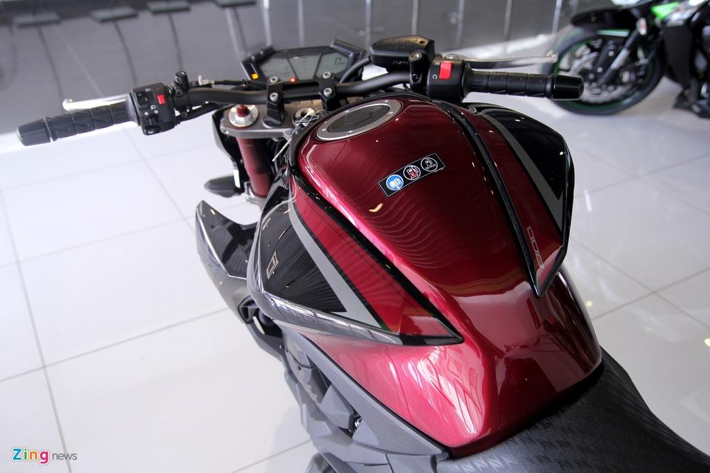 Kawasaki Z800 2016 mau do den dau tien ve VN, gia 275 trieu hinh anh 5