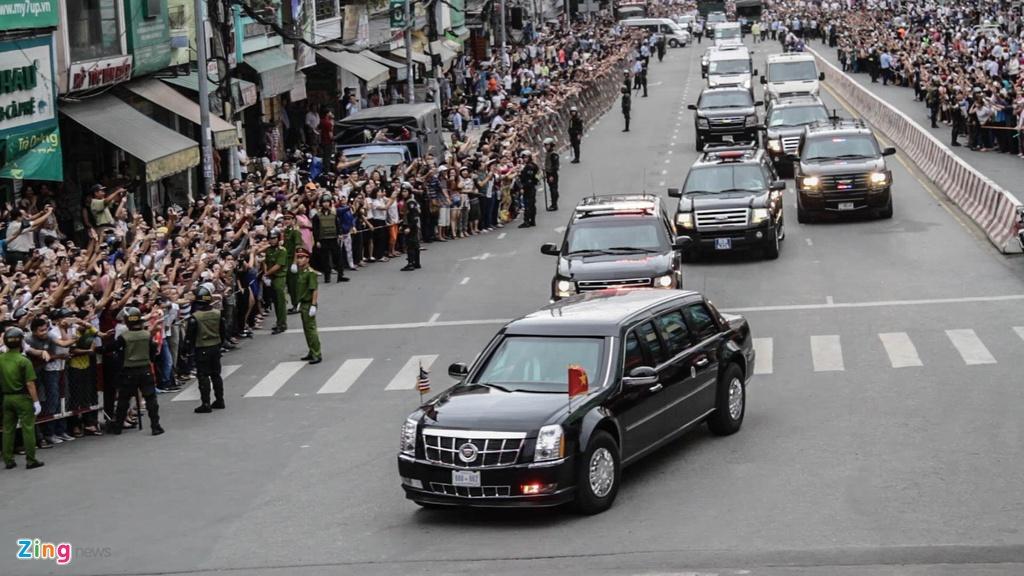 Chi tiet doan xe ho tong Tong thong Obama o Sai Gon hinh anh 1