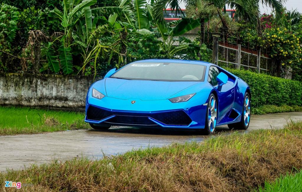 Sieu xe Lamborghini Huracan tren duong que Long An hinh anh 1