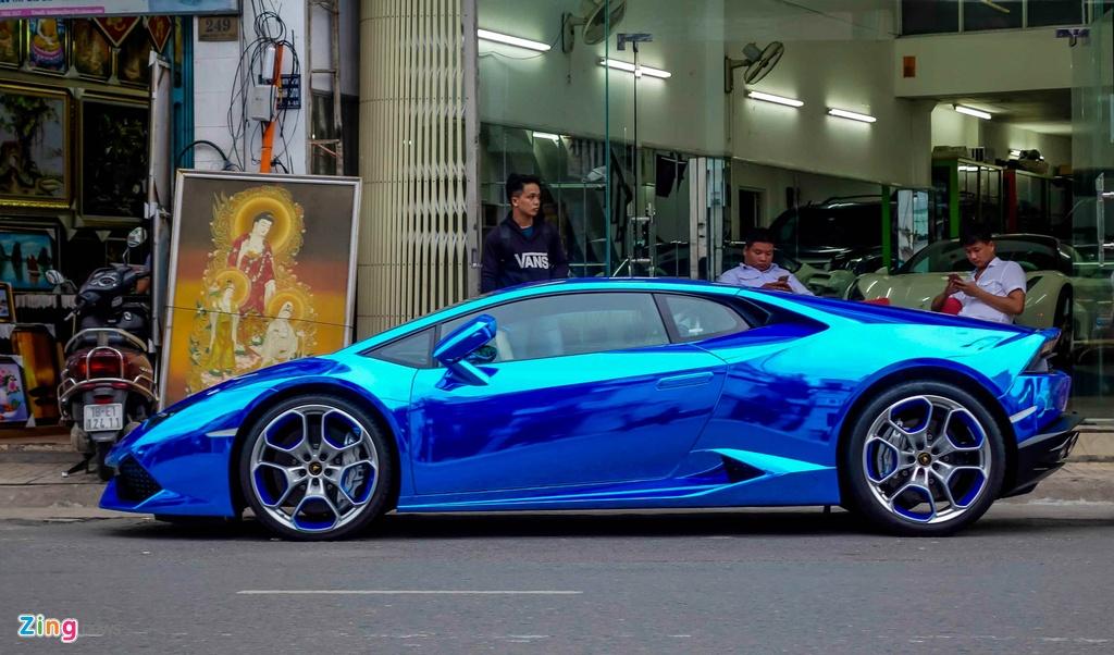 Sieu xe Lamborghini Huracan tren duong que Long An hinh anh 10