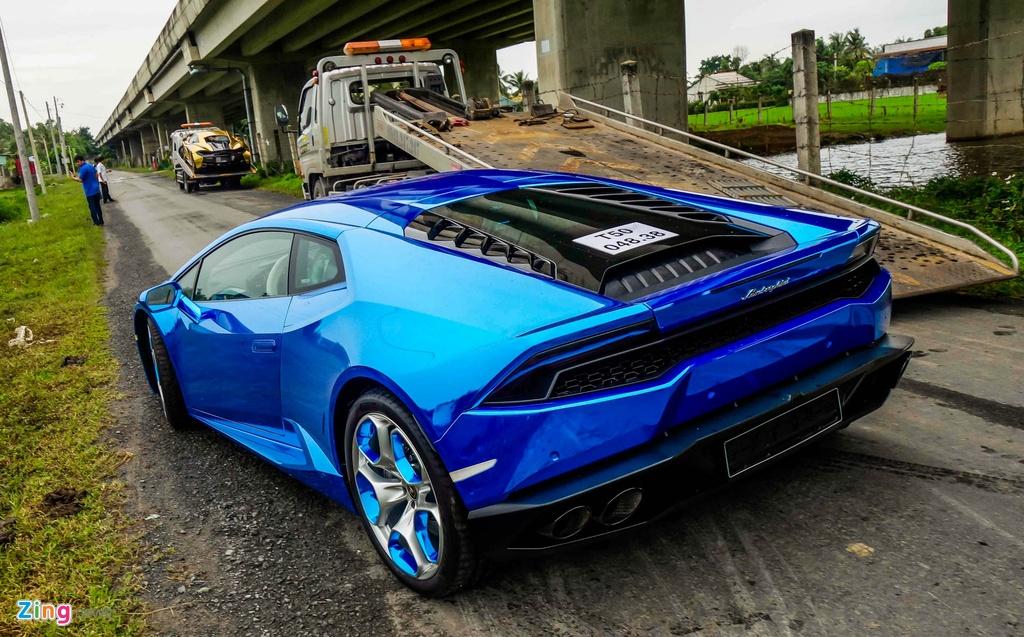 Sieu xe Lamborghini Huracan tren duong que Long An hinh anh 4