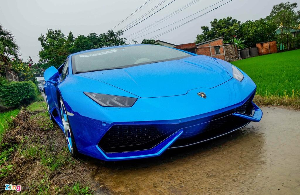 Sieu xe Lamborghini Huracan tren duong que Long An hinh anh 5