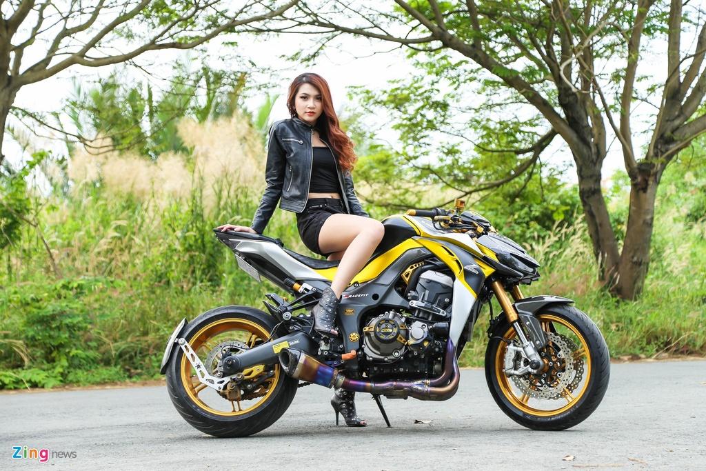 Chan dai do dang cung Kawasaki Z1000 anh 1