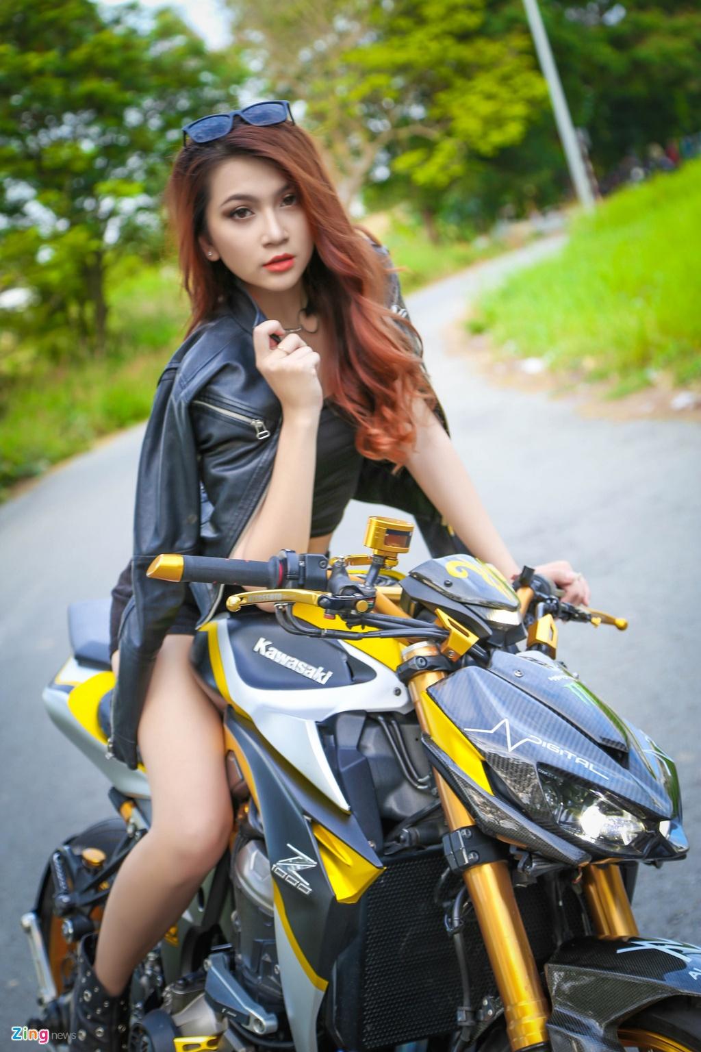 Chan dai do dang cung Kawasaki Z1000 anh 4