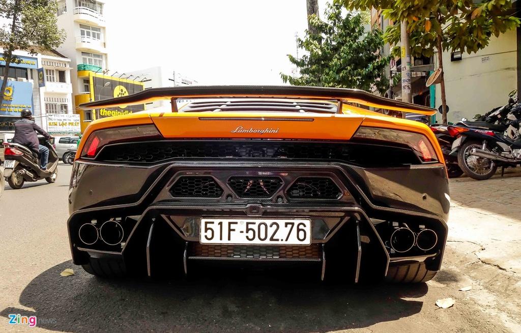 Sieu xe Lamborghini Huracan do kieu xe dua o Sai Gon hinh anh 4