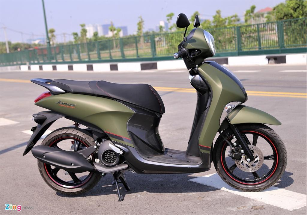 Yamaha Janus ban mau xanh quan doi gia 32 trieu tai Viet Nam hinh anh 3
