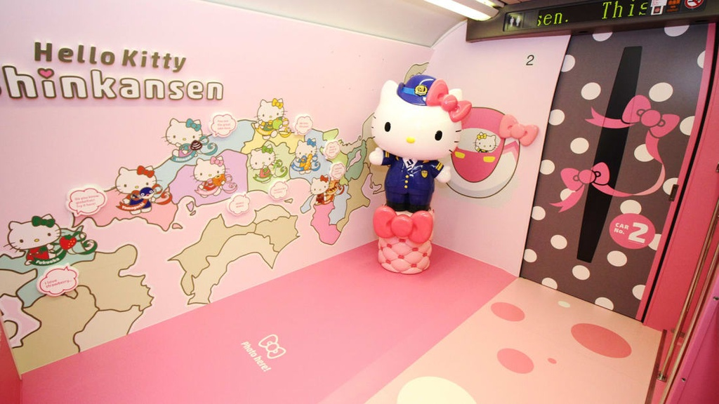 Ben trong tau Hello Kitty ngo nghinh o Nhat Ban hinh anh 5