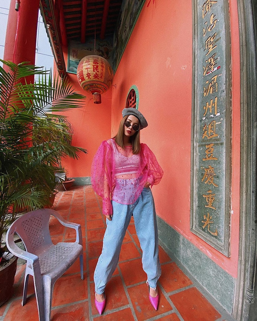 Chi Pu, Pham Huong thich mac vay ao mau gi nhat hien nay? hinh anh 8 Pink8.jpg