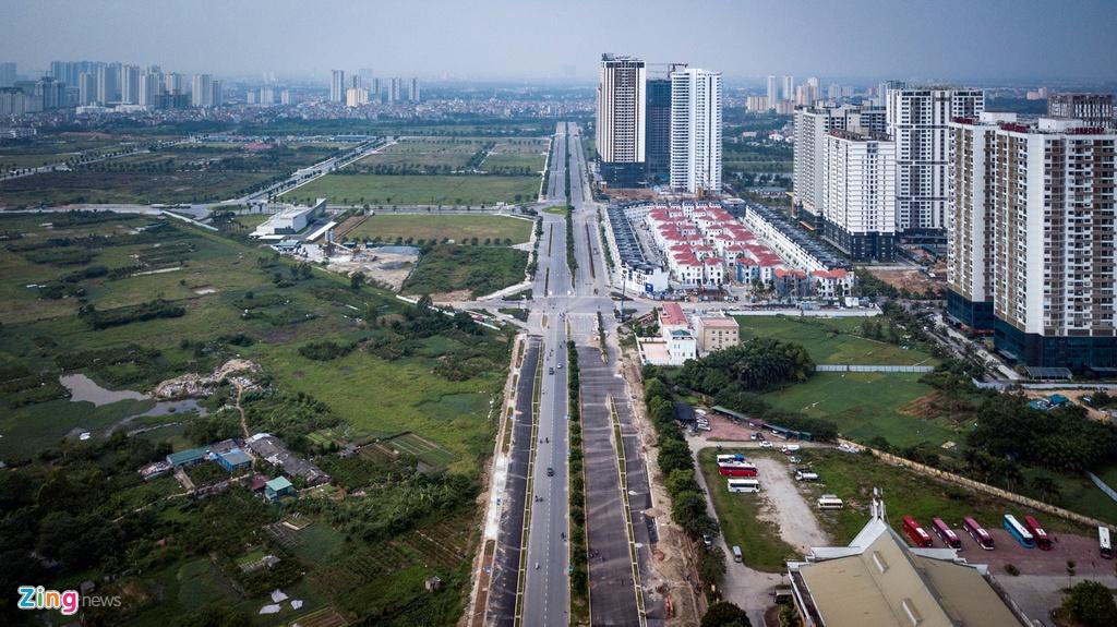 Tuyến đường 10 làn xe chạy qua khu đô thị khổng lồ ở Hà Nội