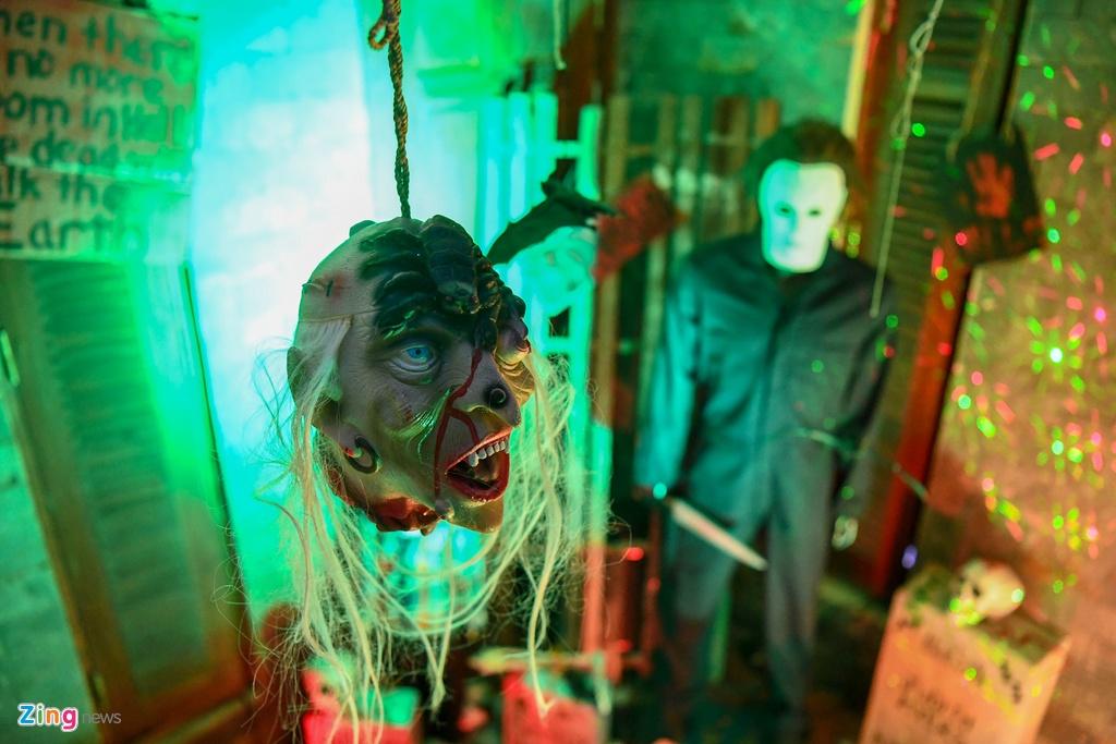 Khong khi Halloween som o Ha Noi hinh anh 10