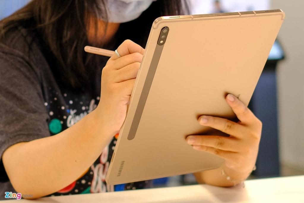 Samsung ra mat Note20,  Samsung ra mat Tab S7,  tablet moi cua Samsung,  cau hinh Tab S7,  Samsung Tab S7 gia bao nhieu anh 5