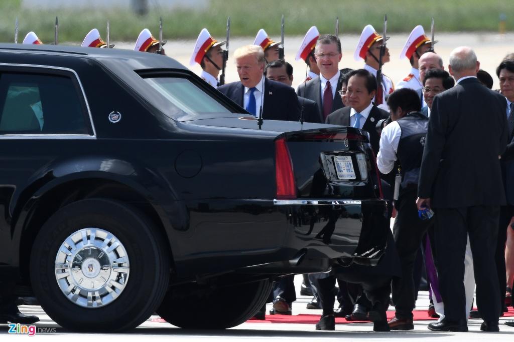 Air Force One dua Tong thong Trump den Da Nang hinh anh 3