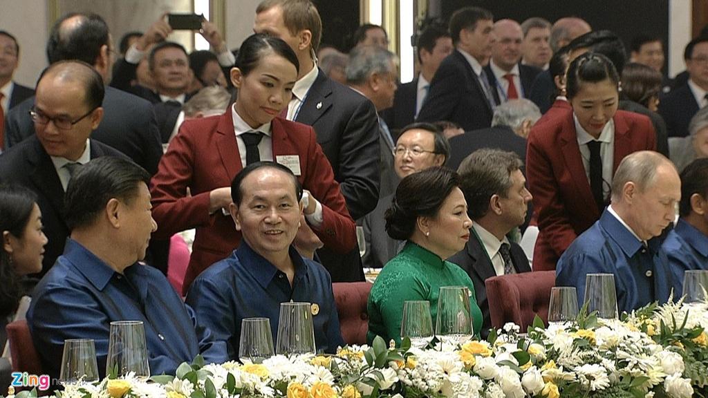 Chu tich nuoc Tran Dai Quang chu tri tiec chieu dai lanh dao APEC hinh anh 12