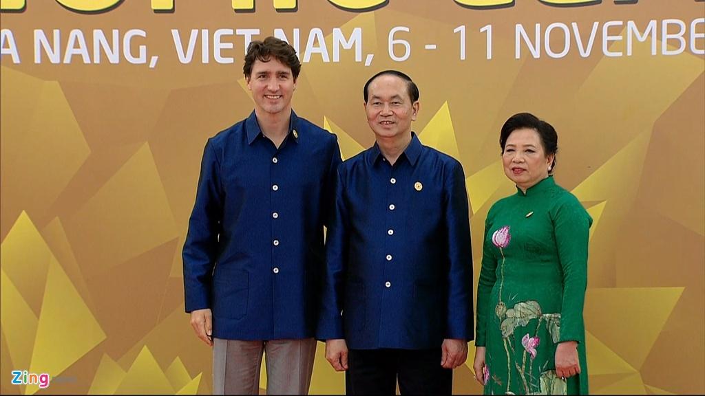 Chu tich nuoc Tran Dai Quang chu tri tiec chieu dai lanh dao APEC hinh anh 2