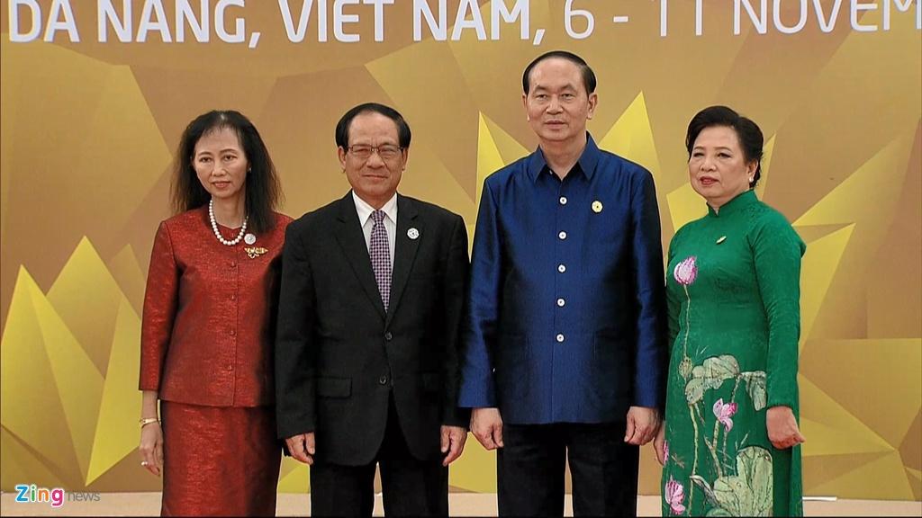 Chu tich nuoc Tran Dai Quang chu tri tiec chieu dai lanh dao APEC hinh anh 1