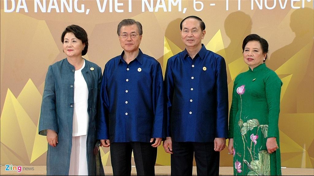 Chu tich nuoc Tran Dai Quang chu tri tiec chieu dai lanh dao APEC hinh anh 4