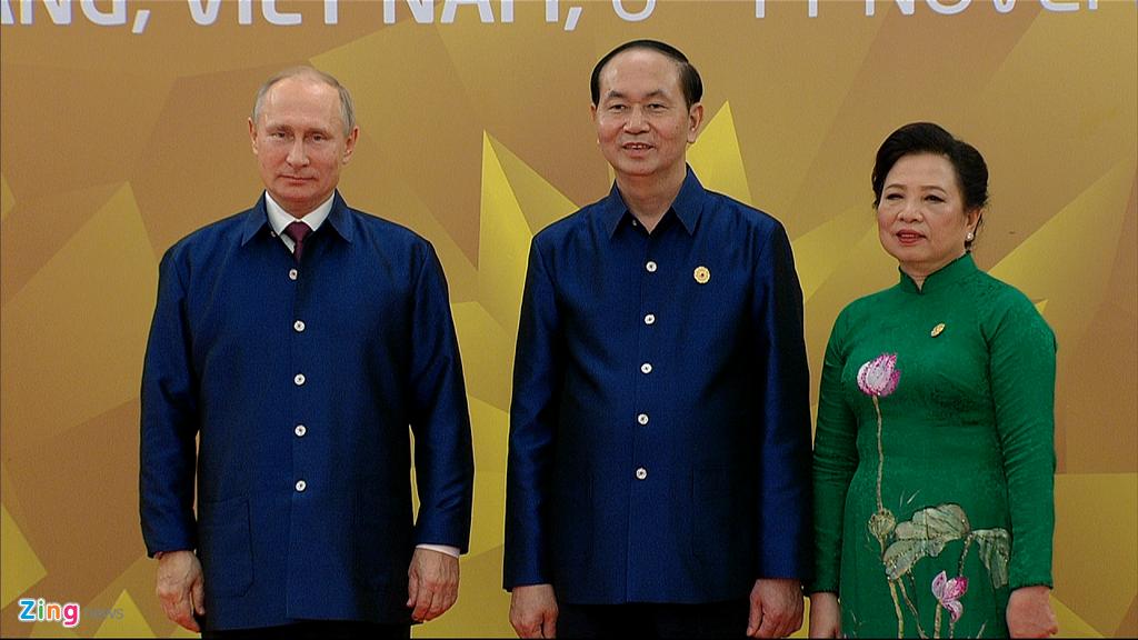 Chu tich nuoc Tran Dai Quang chu tri tiec chieu dai lanh dao APEC hinh anh 6