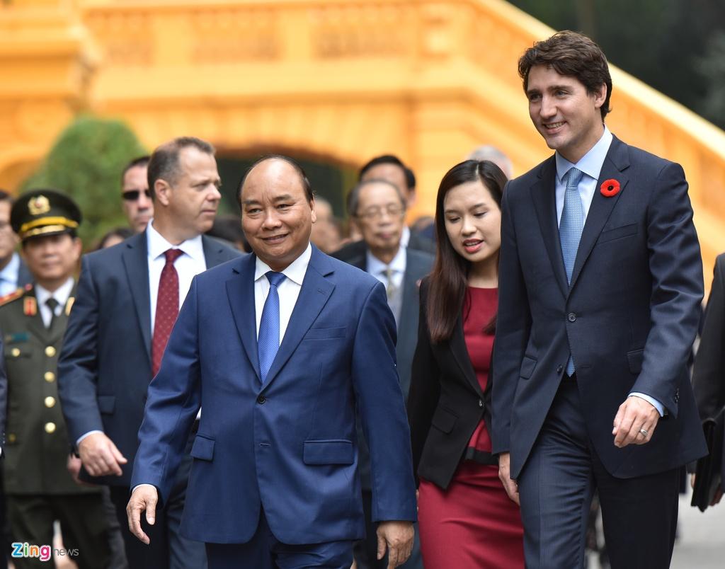 Thu tuong Nguyen Xuan Phuc hoi dam voi Thu tuong Canada Trudeau hinh anh 3