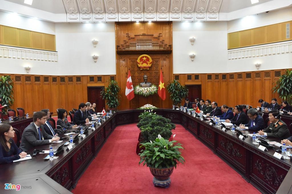 Thu tuong Nguyen Xuan Phuc hoi dam voi Thu tuong Canada Trudeau hinh anh 4