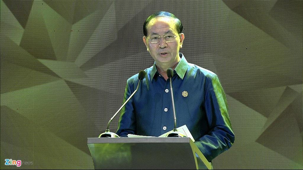 Chu tich nuoc Tran Dai Quang chu tri tiec chieu dai lanh dao APEC hinh anh 18